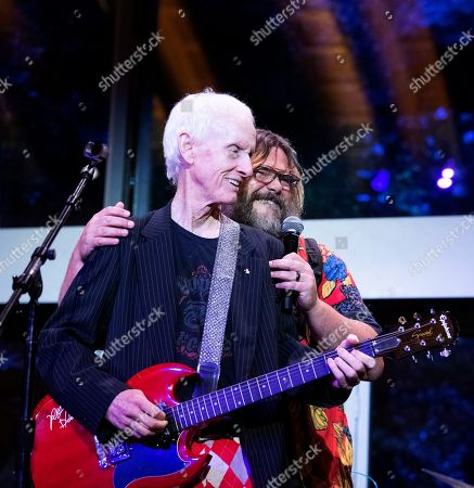 Stock Picture of (L-R) Robby Krieger and Jack Black