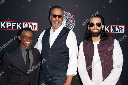 (L-R) Clayton Cameron, Stanley Clarke and Salar Nader