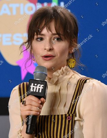 """Ashleigh Cummings attends a press conference for """"The Goldfinch"""" on day four of the Toronto International Film Festival at the TIFF Bell Lightbox, in Toronto"""