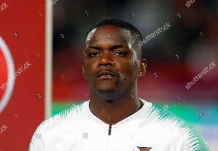 Stock Photo of Portugal's William Carvalho prior to playing their Euro 2020 group B qualifying soccer match between Serbia and Portugal, on the stadium Rajko Mitic in Belgrade, Serbia
