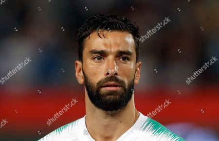 Portugal goalkeeper Rui Patricio prior to playing their Euro 2020 group B qualifying soccer match between Serbia and Portugal, on the stadium Rajko Mitic in Belgrade, Serbia