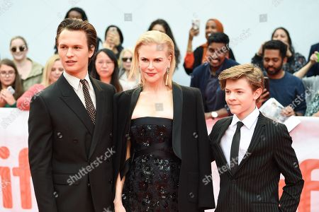 Stock Image of Ansel Elgort, Nicole Kidman, and Oakes Fegley