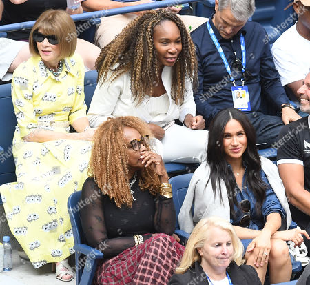 Stock Photo of Anna Wintour, Venus Williams, Oracene Price, and Meghan Duchess of Sussex