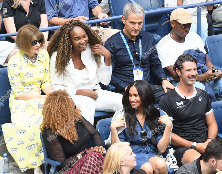 Stock Image of Anna Wintour, Venus Williams, Oracene Price, and Meghan Duchess of Sussex