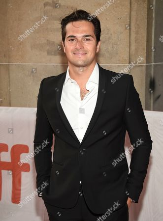 """Professional stock car driver Nelson Piquet Jr. attends a premiere for """"And We Go Green"""" on day four of the Toronto International Film Festival at the Ryerson Theatre, in Toronto"""