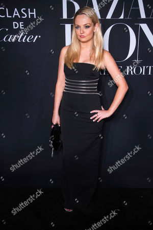 """Stock Image of Emily Meade attends the Harper's Bazaar """"ICONS By Carine Roitfeld"""" gala at The Plaza Hotel presented by Cartier, in New York"""