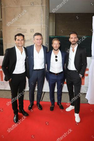 Stock Image of Nelson Piquet Jr, Alejandro Agag, Sam Bird and Jean-Eric Vergne