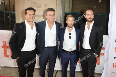 Nelson Piquet Jr, Alejandro Agag, Sam Bird and Jean-Eric Vergne