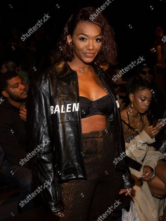 Elisa Johnson attends the LaQuan Smith runway show during NYFW Spring/Summer 2020, in New York