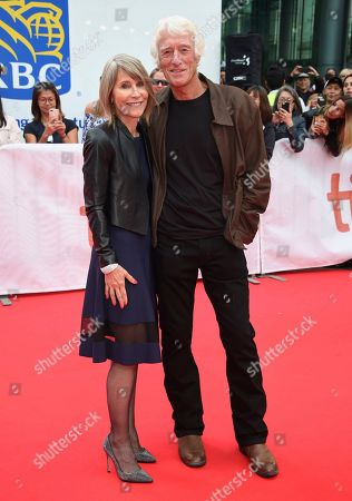 """Roger Deakins, Isabella James Purefoy Ellis. Roger Deakins, right, and Isabella James Purefoy Ellis attend a premiere for """"The Goldfinch"""" on day four of the Toronto International Film Festival at Roy Thomson Hall, in Toronto"""