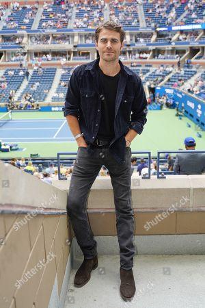 Paul Wesley stops by the Heineken suite at the U.S. Open