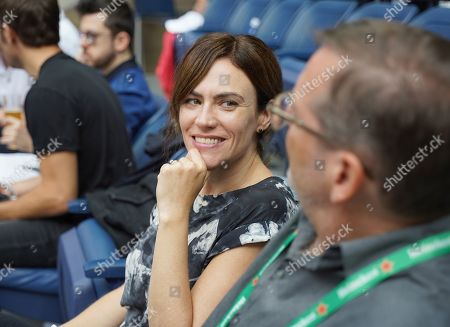 Maggie Siff stops by the Heineken suite at the U.S. Open