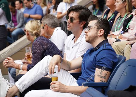 Stock Picture of Nicholas Braun and Christopher Mintz Plasse stop by the Heineken suite at the U.S. Open