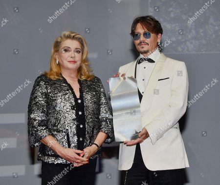 Johnny Depp receives a tribute from Catherine Deneuve