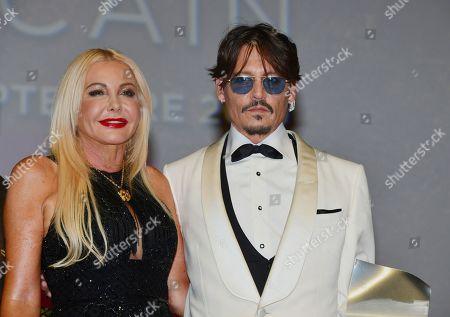 Monika Bacardi and Johnny Depp