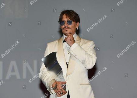 Johnny Depp receives a tribute