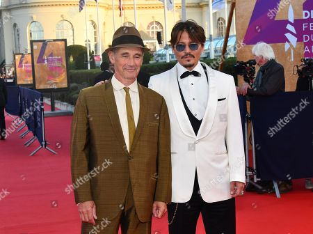 Stock Image of Mark Rylance and Johnny Depp