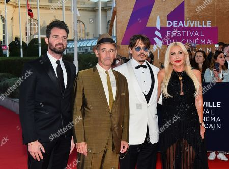 Mark Rylance and Monika Bacardi and Johnny Depp