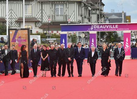 Stock Photo of Jean-pierre Duret, Gaël Morel, Orelsan, Nicolas Saada, Gaspard Ulliel, Antonin Baudry, Catherine Deneuve and Vicky Krieps