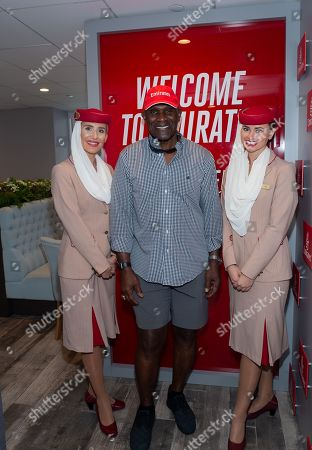 Harry Carson and Cabin Crew Members