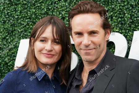 Emily Mortimer, Alessandro Nivola. Emily Mortimer, left, and Alessandro Nivola attend the men's finals of the U.S. Open tennis championships, in New York