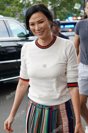 Wendi Deng Murdoch attends the men's finals of the U.S. Open tennis championships, in New York