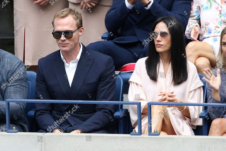 Jennifer Connelly, Paul Bettany. Paul Bettany, left, and Jennifer Connelly attend the men's finals of the U.S. Open tennis championships, in New York
