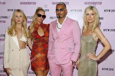 Tessie Hilton, Paris Hilton, Umar Kamani and Nicky Hilton Rothschild