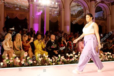 Editorial image of PrettyLittleThing x Saweetie show, Front Row, Spring Summer 2020, New York Fashion Week, USA - 08 Sep 2019