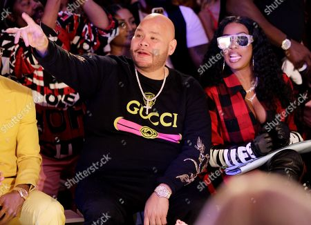 Stock Picture of Fat Joe and Remy Ma in the front row