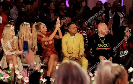 Editorial photo of PrettyLittleThing x Saweetie show, Front Row, Spring Summer 2020, New York Fashion Week, USA - 08 Sep 2019