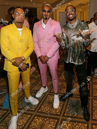 Terrence J, Umar Kamani and Quavo in the front row