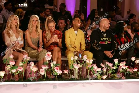 Nicky Hilton Rothschild, Paris Hilton, Terrence J, Fat Joe and Remy Ma in the front row