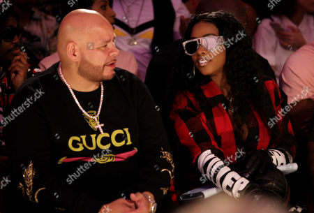 Fat Joe and Remy Ma in the front row