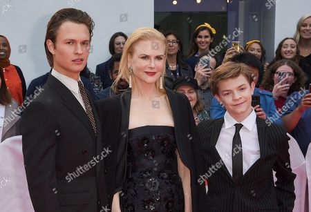 Ansel Elgort, Nicole Kidman, and Oakes Fegley