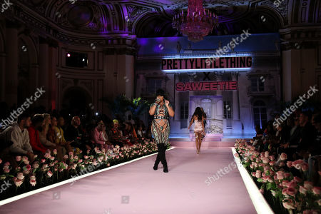 Ashanti on the catwalk