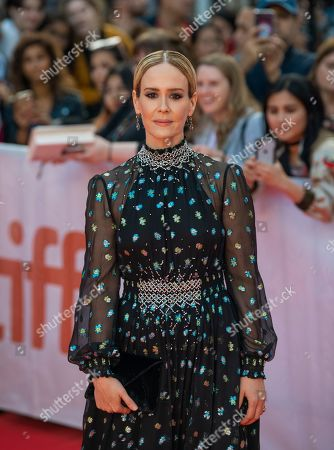 Sarah Paulson arrives for the screening of the movie 'The Goldfinch' during the 44th annual Toronto International Film Festival (TIFF) in Toronto, Canada, 08 September 2019. The festival runs 05 to 15 September.