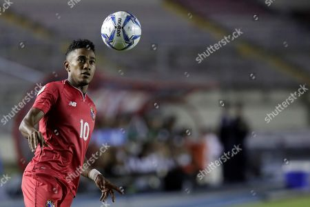 Edgar Barcenas of Panama in action during during a CONCACAF Nations League soccer match between Panama and Bermuda at the Rommel Fernandez National Stadium in Panama City, Panama, 08 September 2019.