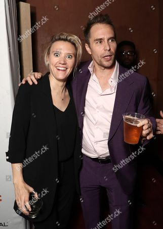 Stock Picture of Kate McKinnon and Sam Rockwell