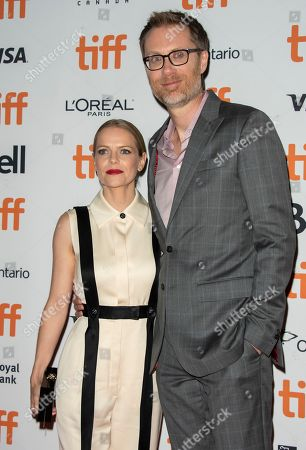 Stephen Merchant (R) and girlfriend US actress Mircea Monroe (L) arrive for the screening of the movie 'Jojo Rabbit' during the 44th annual Toronto International Film Festival (TIFF) in Toronto, Canada, 08 September 2019. The festival runs 05 to 15 September.