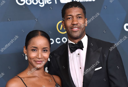 Stock Image of Derek Fonzworth Bentley and Fawn Chambers
