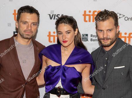 Stock Picture of Sebastian Stan, Shailene Woodley and Jamie Dornan