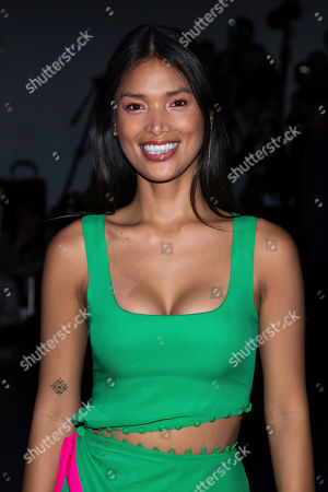 Geena Rocero attends the Prabal Gurung show during Fashion Week on in New York