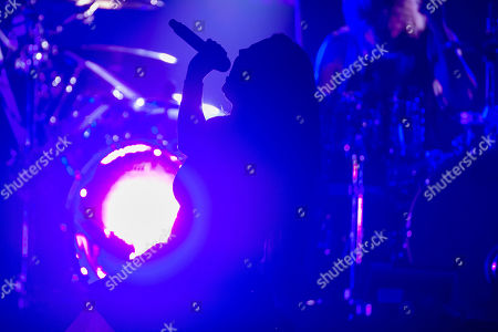 Stock Picture of Amy Lee of the rock band Evanescence performs during their concert at Papp Laszlo Sports Arena in Budapest, Hungary, 08 September 2019.