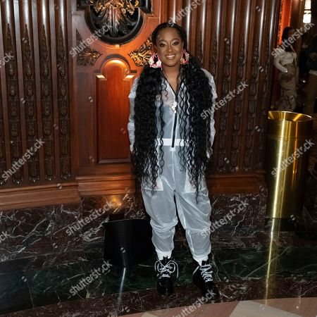 Rapsody attends the Pyer Moss runway show during NYFW Spring/Summer 2020, in Brooklyn, New York