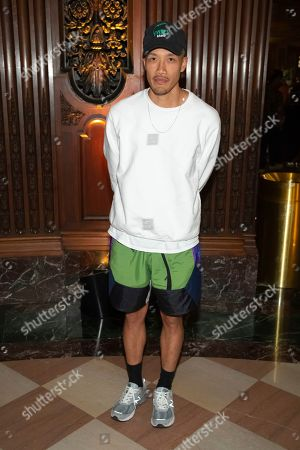 Clothing designer Dao-Yi Chow attends the Pyer Moss runway show during NYFW Spring/Summer 2020, in Brooklyn, New York