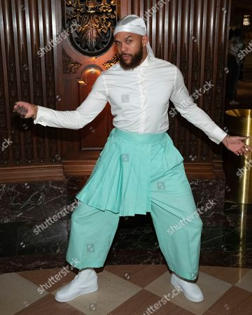 Jidenna attends the Pyer Moss runway show during NYFW Spring/Summer 2020, in Brooklyn, New York