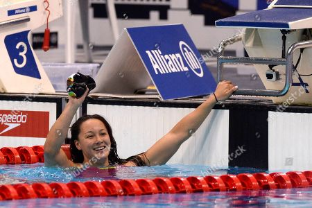 Stock Photo of Alice Tai of Great Britain during the Women's 50m Freestyle S8 at Day five of the London 2019 World Para Allianz Championships at the London Aquatics centre in Stratford, London, UK - 13th September 2019