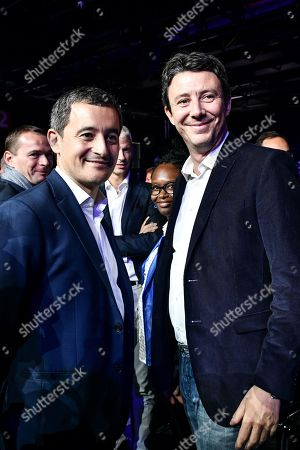 LREM's mayoral election candidate in Paris Benjamin Griveaux and French Minister of Public Action and Accounts Gerald Darmanin during the campus des territoires