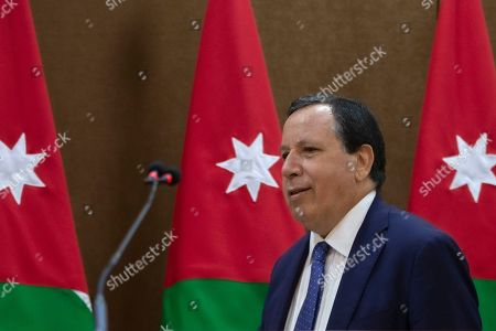 Tunisian Foreign Minister Khemaies Jhinaoui arrives to give a short statement with his Jordanian counterpart at the Foreign Ministry in Amman, Jordan, 09 September 2019.